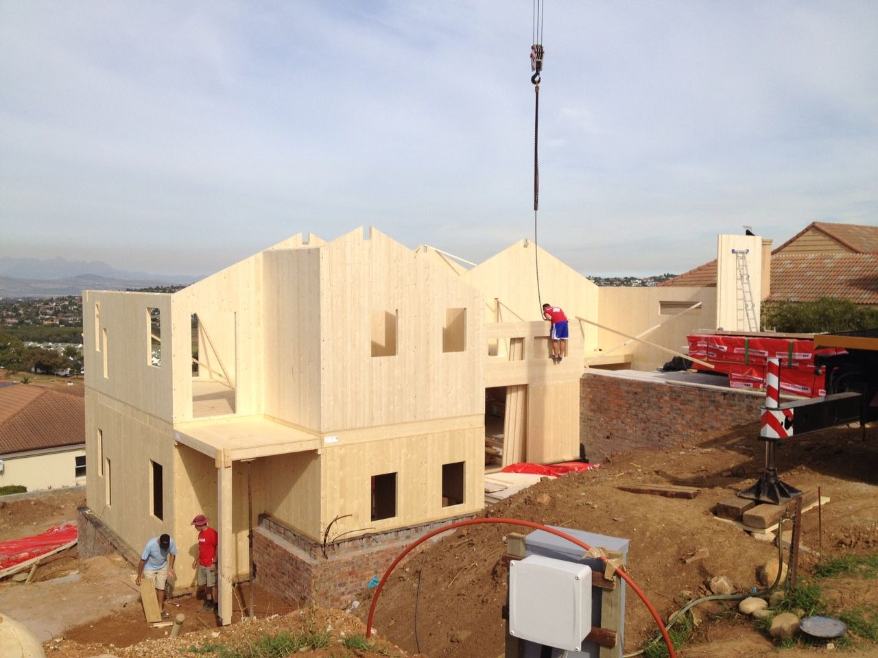 First Novatop System house in Africa - walls complete in 5 days